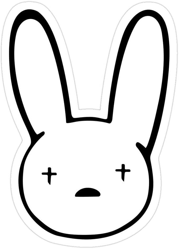 Amazon Com Vijk Kor Bad Bunny Sticker Bad Bunny Logo Decal