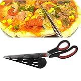 Wrisky Lengthen Steel Stainless Pizza Scissors 31cm Slicer Cutter Server Anti-stick