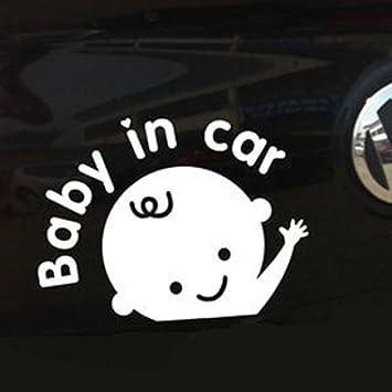 1Pc Weiße Baby in Auto (Junge) Baby Sicherheit Zeichen Auto ...
