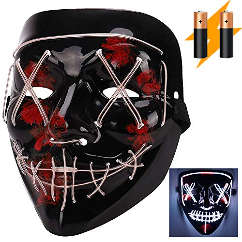 Visions Mens Club Halloween Party (LED Halloween Scary Mask for Women & Men Gifts, Costume Parties, Dance, Carnival or)