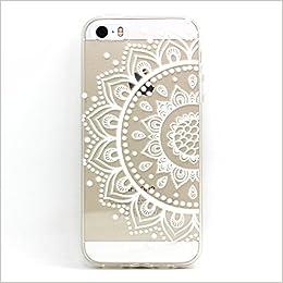 764acdec2c6 Amazon.com: 5 Case,iPhone 5S Case -LUOLNH Henna Mandala Half Totem Flower  TPU Silicone Skin Case Cover Phone Case Case Bumper for Apple iphone 5/5S:  Books