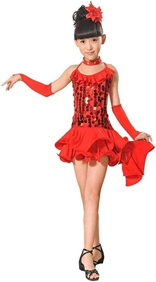 Disfraz de baile de niña Niños niñas volantes asimétricos con ...