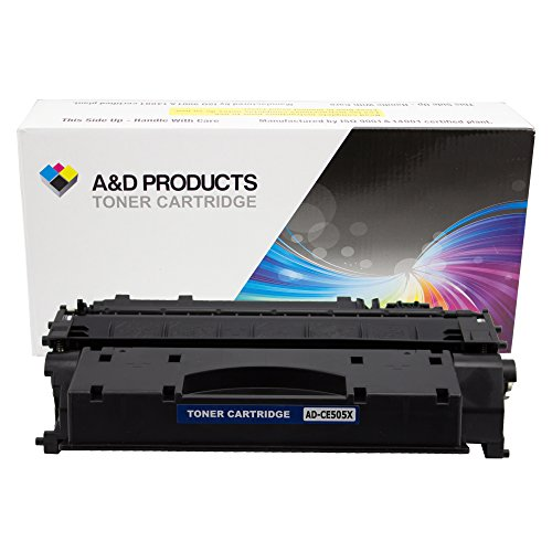 A&D Products Compatible Replacement for HP CE505X Toner Cartridge High Yield HP 05X Black (6,500 Page Yield) for use in LaserJet P2055d, P2055dn, and P2055X Printers