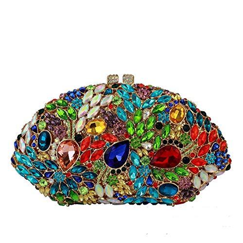 Sac Multicolore Luxe Lady Vitrail Pour Bal Strass Main De Celebrity Scalloped Dames Drill couleur Embrayage À Multicolore Mariage Dîner Clutch Soirée rnqrH4