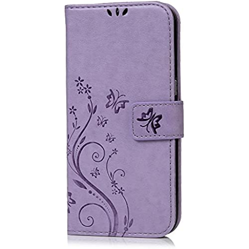 Galaxy S7 Edge Case - Mavis's Diary Embossed Wallet Fashion Floral Butterfly PU Leather Magnetic Flip Cover Card Sales