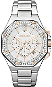 Michael Kors Women's Stainless Steel Quartz Chronograph Crystal Two Tone Dial MK5504