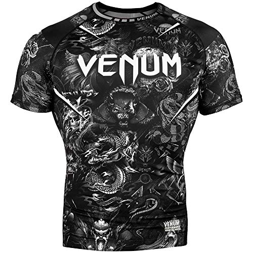 Venum Art Rash Guard - Short Sleeve - for Men - Fitness No-Gi BJJ Gym Crossfit -XL Rash Guard Llong Sleeve Men