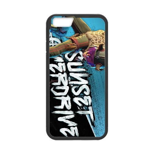 Sunset Overdrive 5 coque iPhone 6 Plus 5.5 Inch cellulaire cas coque de téléphone cas téléphone cellulaire noir couvercle EEECBCAAN06010
