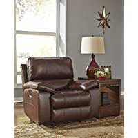 Ashley Furniture Signature Design - Transister Rocker Recliner Chair - Power Reclining - Contemporary Style - Coffee