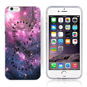 Africa Ancient Proverb HAKUNA MATATA Color Accelerating Universe Star Design Pattern HD Durable Hard Plastic Case Cover for iPhone 6
