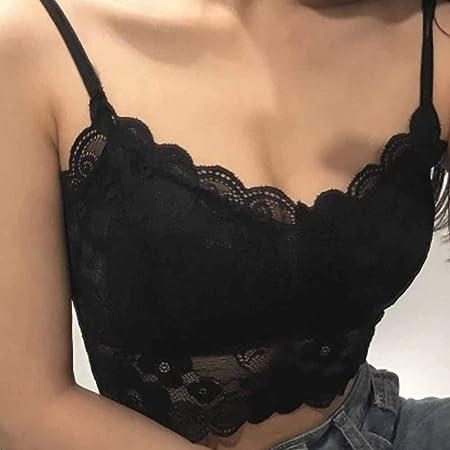 LiYL Sujetador de Mujer de Moda Tops de Encaje Femeninos Correa de Encaje Femenina Camisa de Pecho Envuelta Top Ropa Interior Nueva Sujetadores for Mujeres (Color : Black): Amazon.es: Hogar