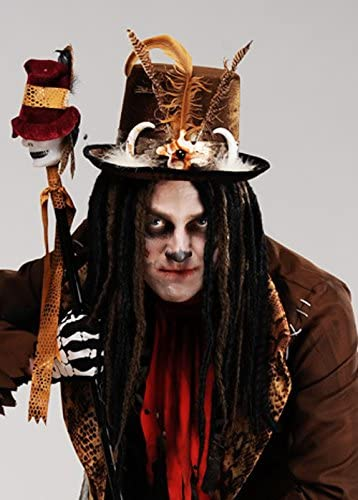 Halloween Voodoo Witch Doctor Top Hat