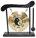 Zen Table Gong Taiji Symbol Feng Shui Meditation Desk Bell Home Decor Housewarming Congratulatory Blessing Gift US Seller