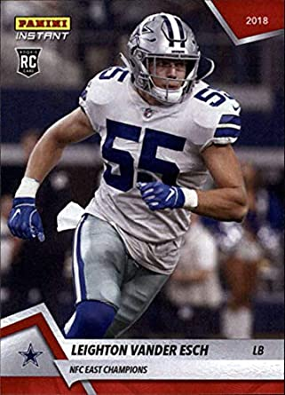 d657916f7cb 2018 Panini Instant Football #229 Leighton Vander Esch RC Rookie Dallas  Cowboys NFC East Champions