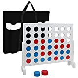 Smartxchoices Line Up 4 Game, 4 to Score Game Set, 4 in a Row, 3ft x 2ft Board Game with Coins, Large Carrying Case and Rules, Backyard Family Game for Outdoor/Indoor, Parties