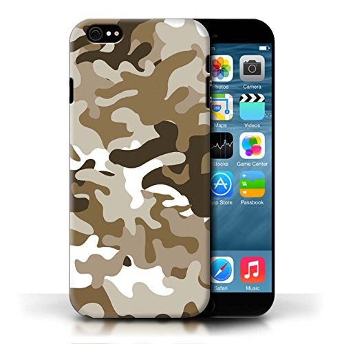 Etui / Coque pour Apple iPhone 6/6S / Marron 1 conception / Collection de Armée/Camouflage
