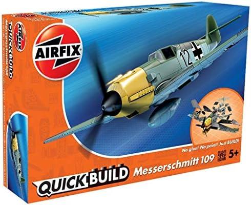 エアフィックス クイックビルドシリーズ ドイツ空軍 メッサーシュミット Bf109 塗装済みブロック式組み立てキット QB600