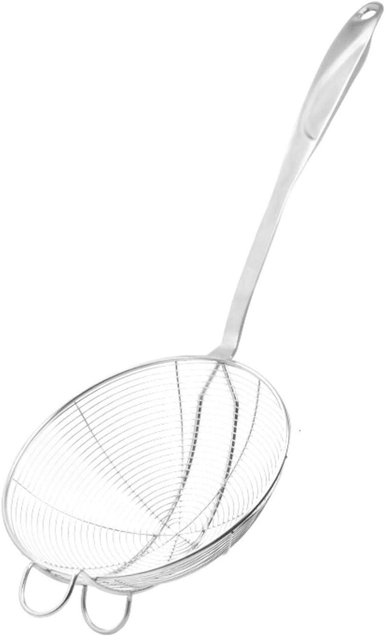 2 cucharas de colador para ollas calientes, escurridor, mango largo, colador de acero inoxidable, filtro de salsa, colador de ollas, herramientas de cocina: Amazon.es: Hogar