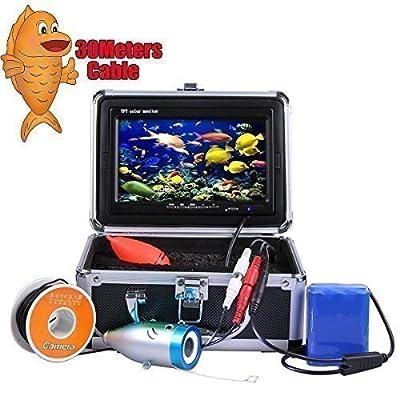 "Vanxse® Underwater Fish Camera System 7"" TFT LCD 700tvl Hd Underwater Video Camera 30m Cable Fish Finder"