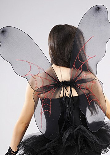 Boland Alas de Hadas de Halloween araña Negra gótica