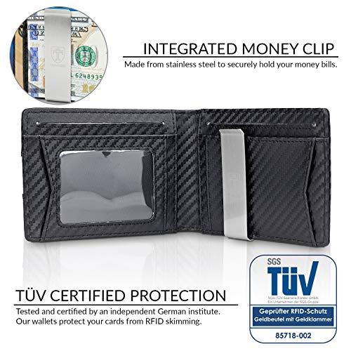 TRAVANDO Slim Wallet with Money Clip AUSTIN RFID Blocking Card Mini Bifold Men 3