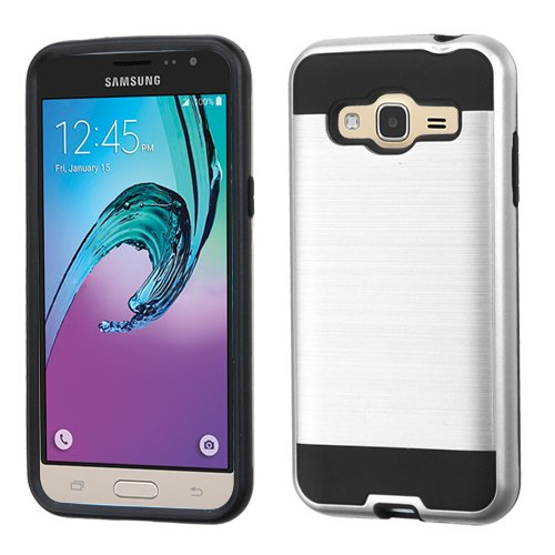 Wydan Case for Samsung Galaxy J3V, Sky, Express Prime, Amp Prime, Sol, J3 - Hybrid Hard Shockproof Case Heavy Duty Protective Brushed Phone Armor Protector -