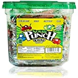 "Sour Punch 3"" Individually Wrapped Assorted Flavor Twists, 2.78LB Jar"