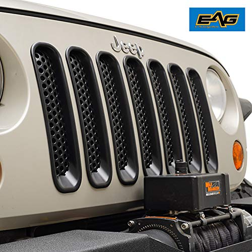 - EAG Black ABS Clip-in Mesh Grille Insert 7PC