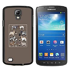 YiPhone /// Prima de resorte delgada de la cubierta del caso de Shell Armor - Árbol francés Familia Familia del perro Bulldog - Samsung Galaxy S4 Active i9295