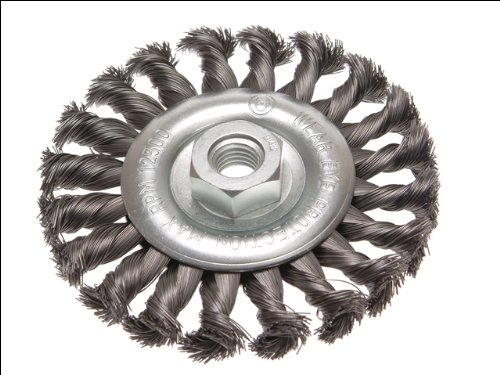 Faithfull Circular Wire Brush 115x12xM14x2 0.35mm - Faithfull Brush Wire