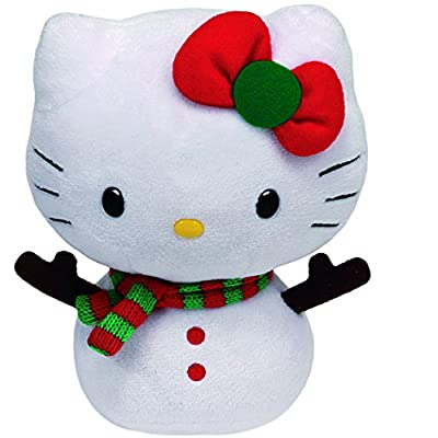 Ty Ty41015 - Peluche - Hello Kitty Bonhomme De Neige - Beanie Babies - 20 Cm