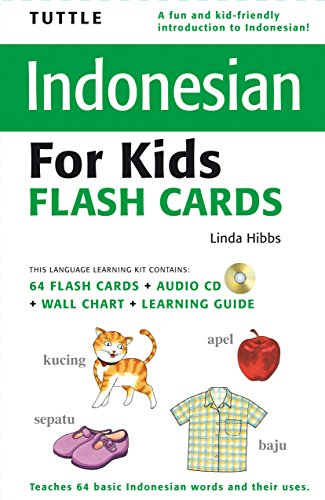 Tuttle Indonesian for Kids Flash Cards Kit: [Includes 64 Flash Cards, Audio CD, Wall Chart & Learning Guide] (Tuttle Flash Cards) by Brand: Tuttle Publishing