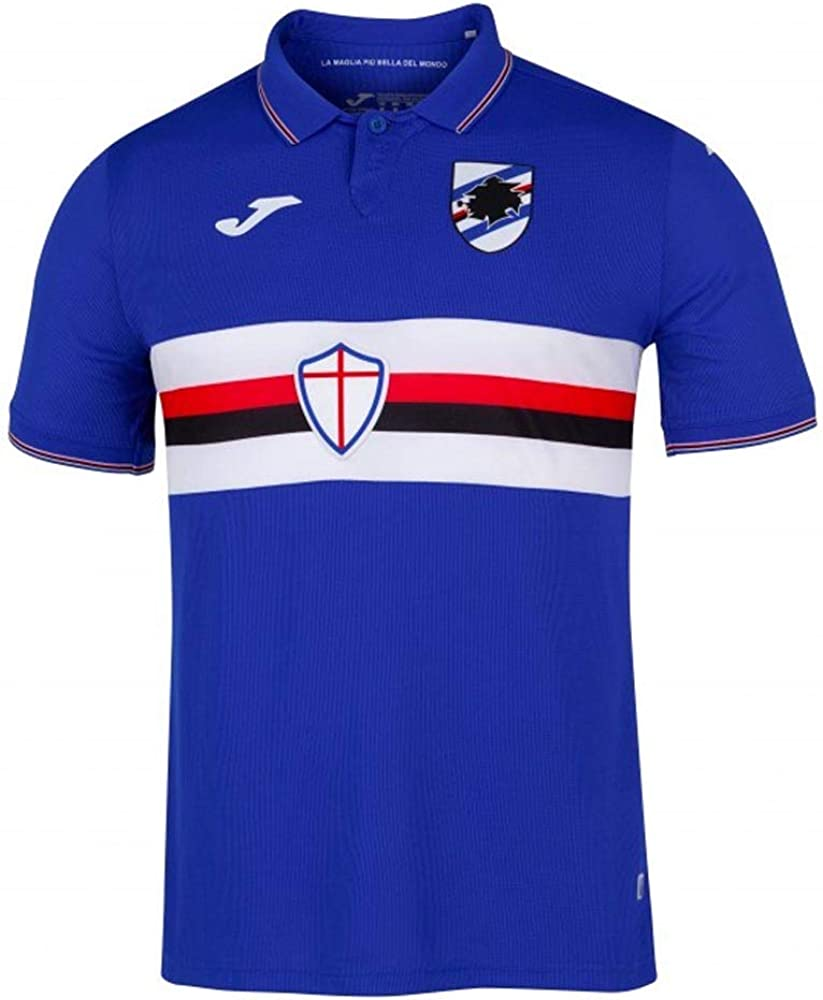Joma 2019-2020 Sampdoria Home Football Soccer T-Shirt Jersey