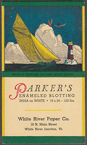 Parker's Enameled Blotting White River Junction Paper VT blotter 1920s