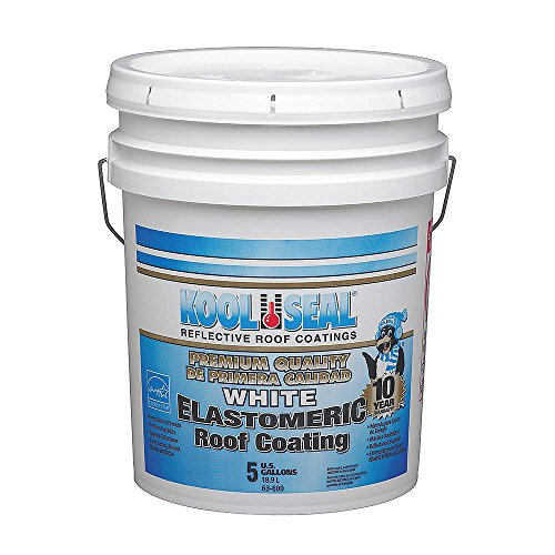Elastomeric Roof Coating, White, 4.75 gal.