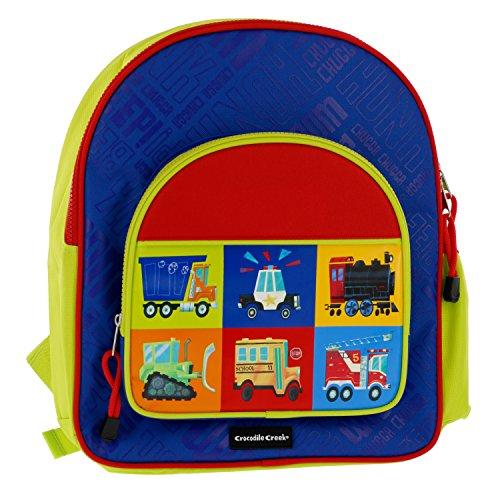 Crocodile Creek Kids Eco Vehicle School Backpack, Blue, 14