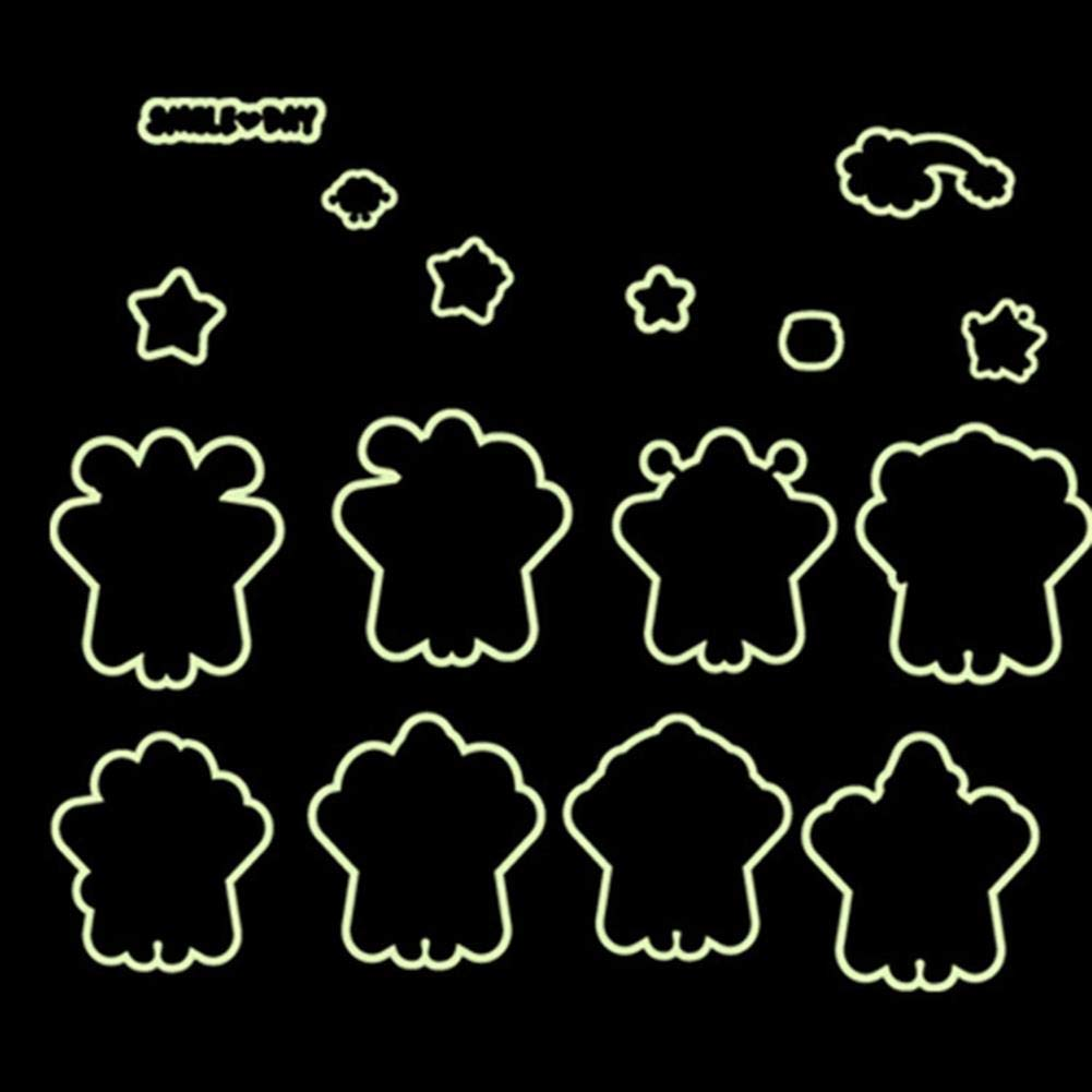 Niome Creative Children Bedroom Wall Stickers Glow in The Dark Luminous Kids Room Decor Y0021