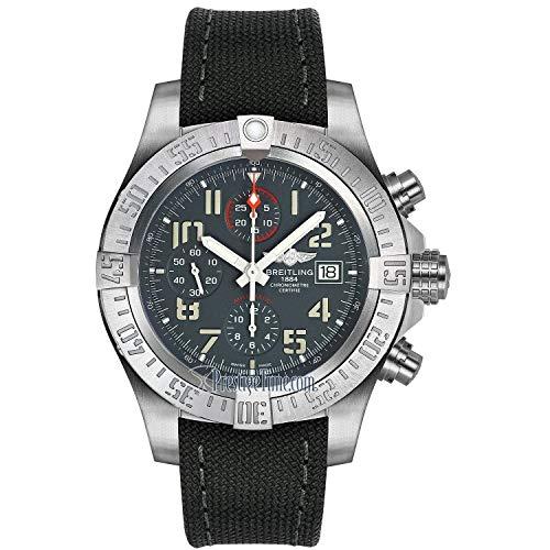 Breitling Men's E1338310-M534-109W 'Avenger' Chronograph Grey Fabric Watch