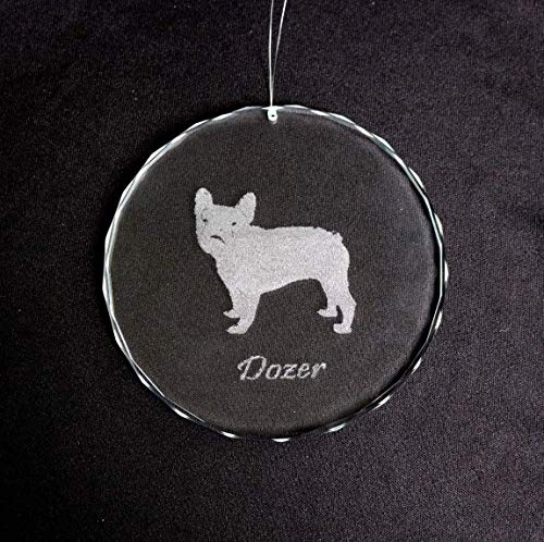 - Glass Dog Ornament Etched Glass Personalized Pet Loss Engraved Sun Catcher