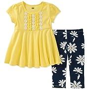 Kids Headquarters Baby Girls Tunic Set-Transitional, Yellow/Navy, 12M