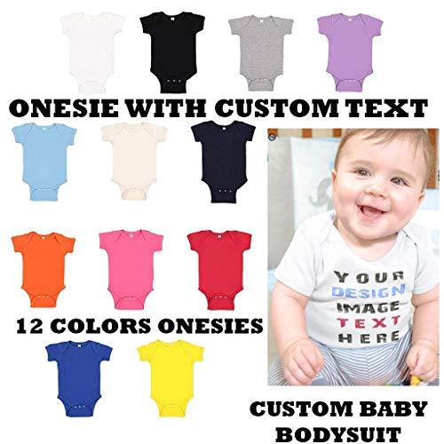 - Custom Text Baby Bodysuit, Baby Bodysuit, Custom Onesie, Baby Onesie, Personalized Baby Bodysuit, Baby Shower Gift, Baby Gift