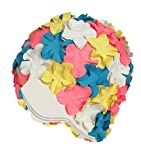 Beemo Latex Swim Cap - Women Stylish Swimming Cap Great For Ladies, Perfect To Keep Hair Dry - Suitable For Long Hair - Flowal Petal Vintage Style - Blue,pink,white,yellow