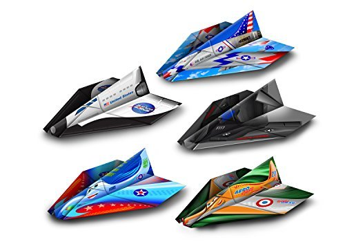 - Paper Wings Pre-Made Paper Airplanes, Colorful Pre-Folded Airplane Models, Indoor and Outdoor Toys for Kids or Parties (Multicolor, Set of 20)