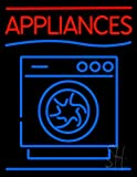 Appliances With Washing Machine Logo Outdoor Neon Sign 31'' Tall x 24'' Wide x 3.5'' Deep