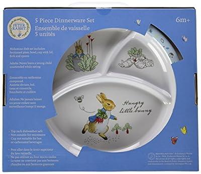 Beatrix Potter Peter Rabbit 5 Piece Melamine Dinnerware Set