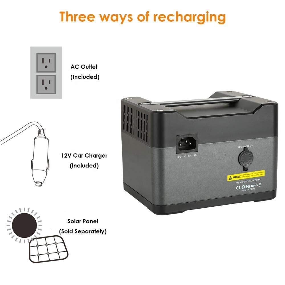 Amazon.com: Zonex 300W Portable Generator 288WH / 79200mAh ...