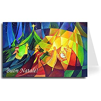 Amazon christmas holiday greeting cards with words in merry christmas greeting card nativity 1 10 cards italian m4hsunfo