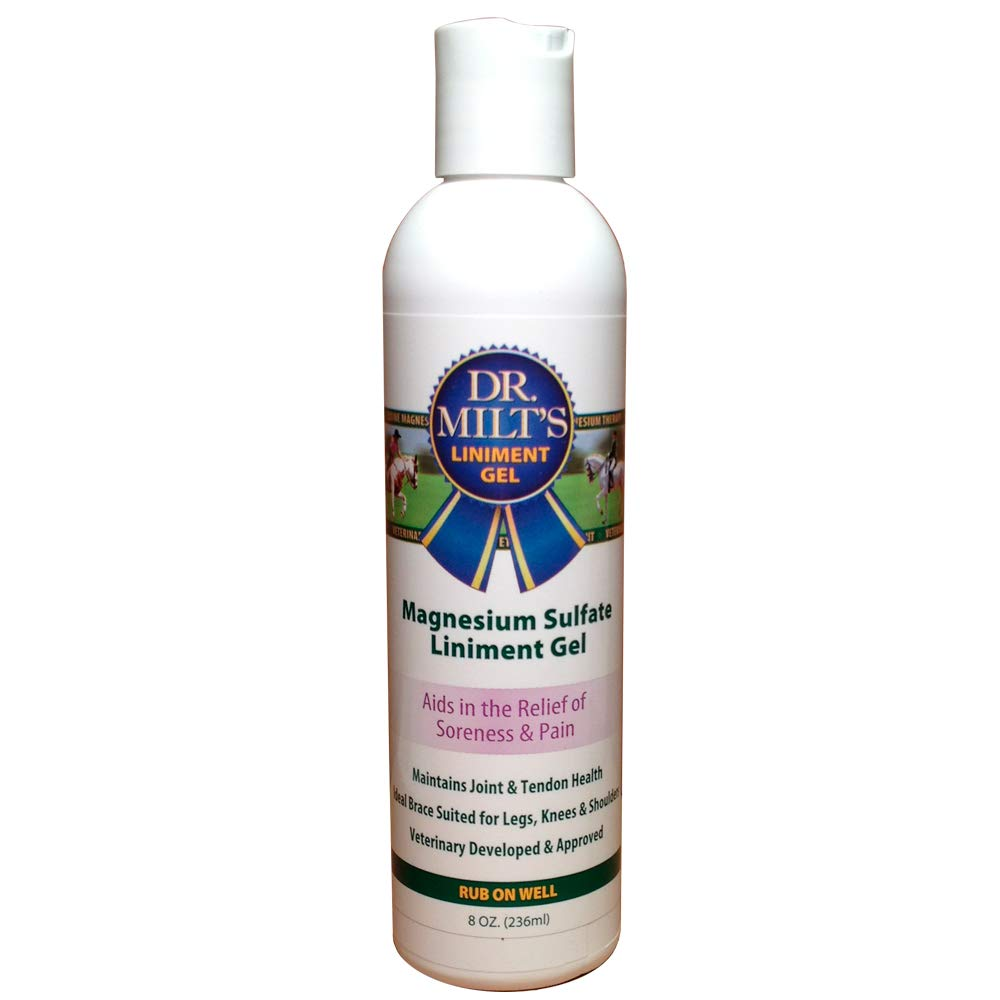 Dr. Milt's Analgesic Magnesium Sulfate Liniment Gel for Horses, 8oz by Dr. Milt's