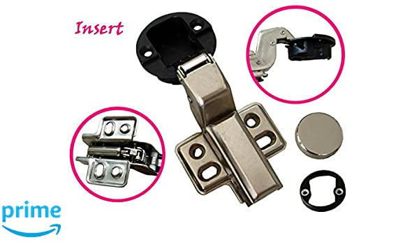 """1/"""" 26mm hole Euro Hydraulic soft close insert Hinge for Cabinet Glass door"""