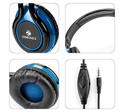 222becdf63a Zebronics ZEB-BUZZ Wired Headset Headphone 3.5 mm with: Amazon.in:  Electronics